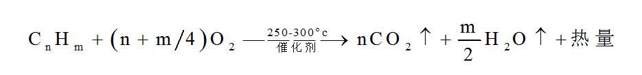 VOCs催化燃烧设备反应方程式
